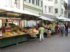 The fruit and vegetable market